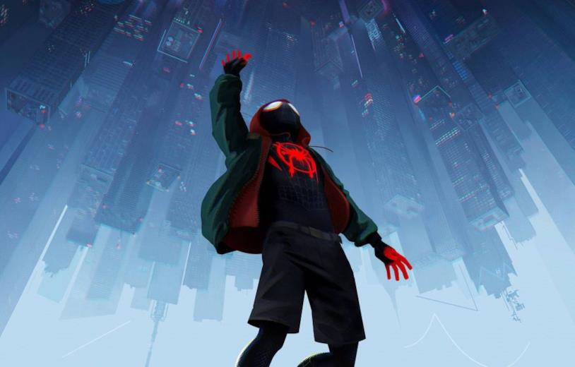 Una scena di Spider-Man: Un nuovo Universo