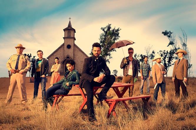 Il cast di Preacher fuori dalla chiesa
