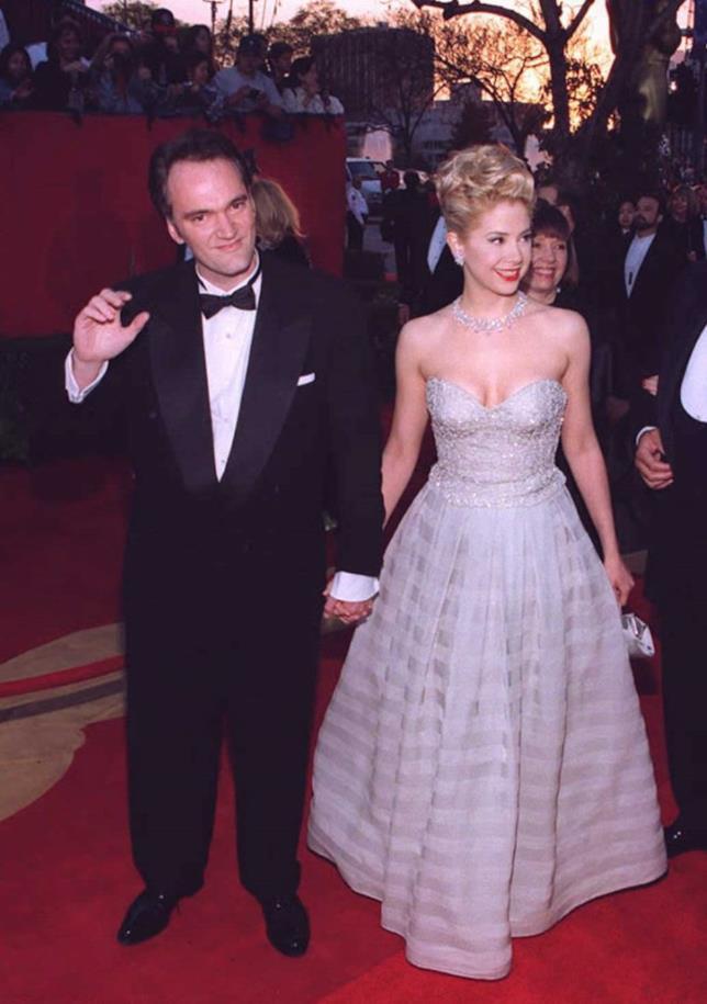 Mira Sorvino in una foto con Tarantino