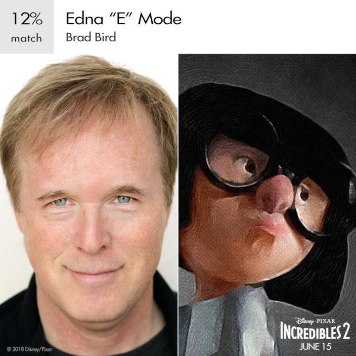 Il regista Brad Bird presta la sua voce a Edna 'E' Mode