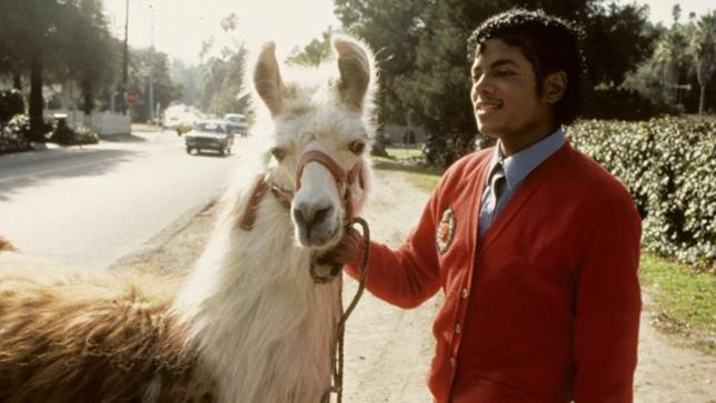 Michael Jackson e il suo lama Louie