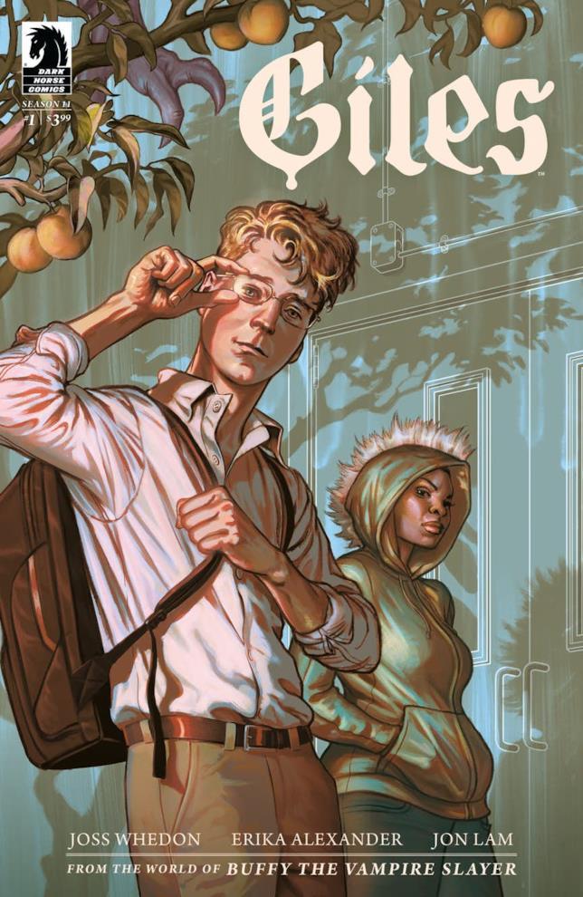 Copertina del nuovo fumetto con Giles giovane in copertina