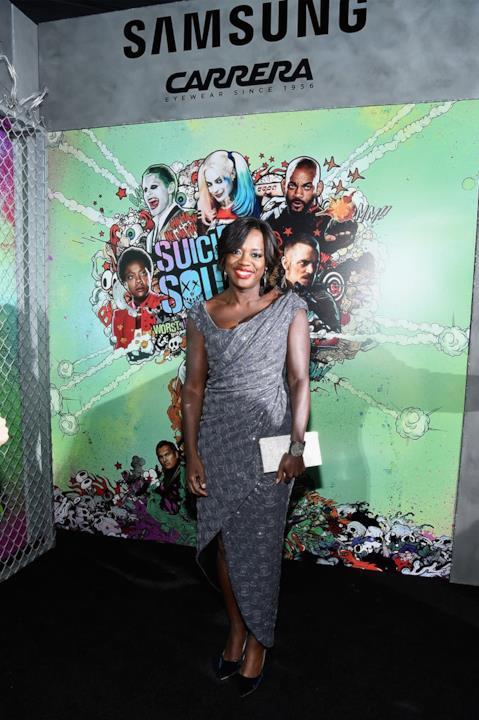Viola Davis alla prima di Suicide Squad