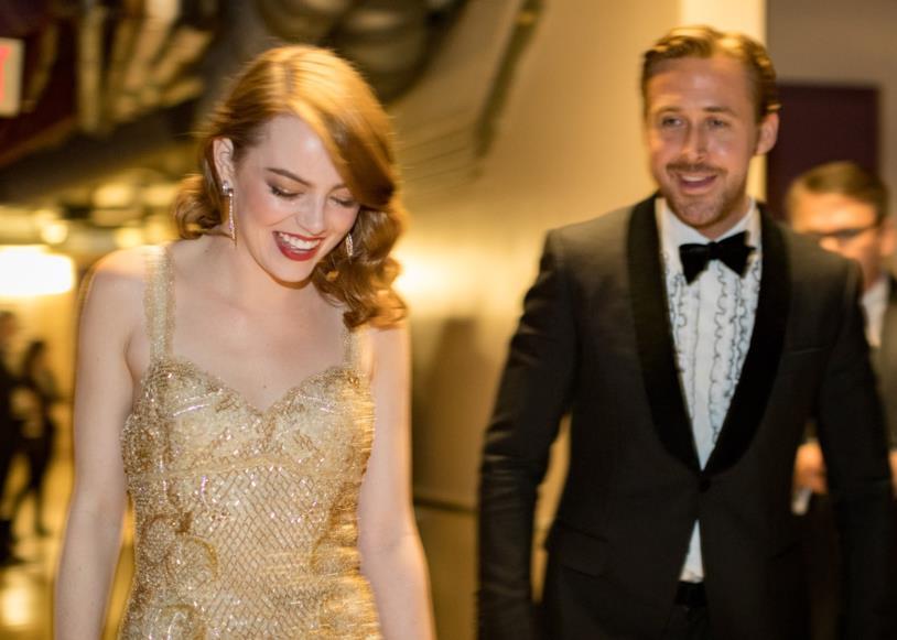 Emma Stone e Ryan Gosling agli Oscar
