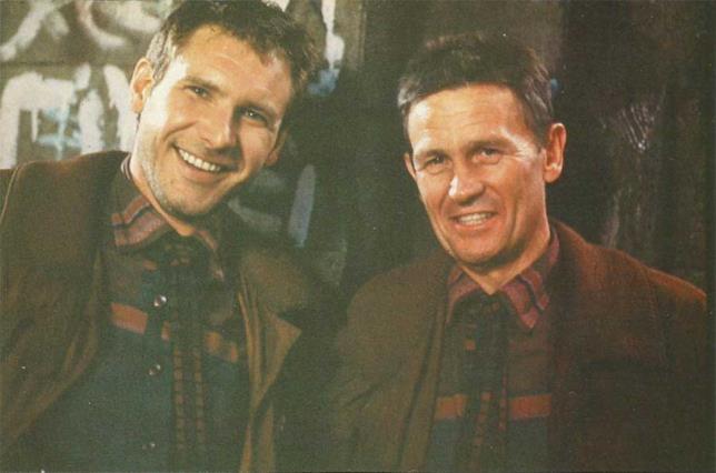 Harrison Ford e la sua controfigura sul set di Blade Runner