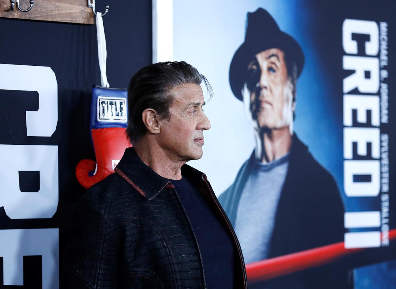 Sylvester Stallone promuove il suo film, Creed II