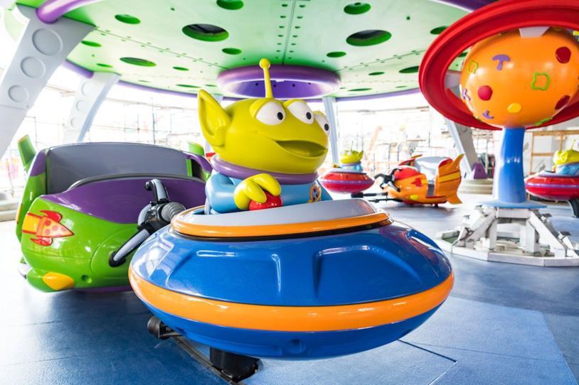 Alien Swirling Saucers è una delle giostre presenti nell'aera Toy Story Land di Disney Resort di Orlando