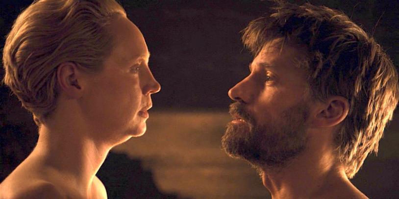 Gwendoline Christie e Nikolaj Coster-Waldau in Game of Thrones 8x04