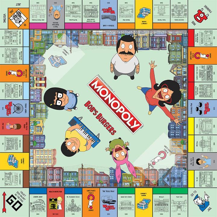 Il tabellone del Monopoly in edizione Bob's Burgers