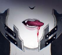 Un vampiro assetato di sangue in un artwork di Code Vein