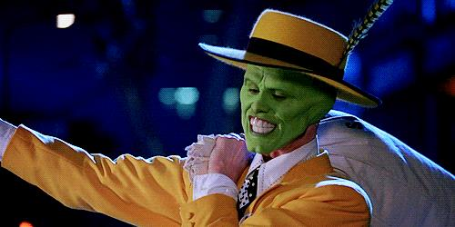 Una scena di The Mask con Jim Carrey