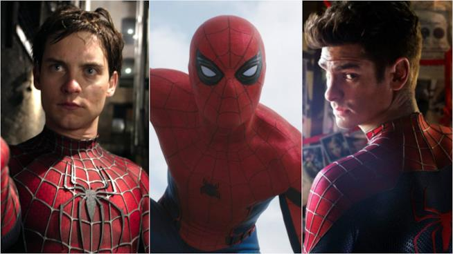 Tobey Maguire, Tom Holland e Andrew Garfield: le 3 versioni di Spidey al cinema