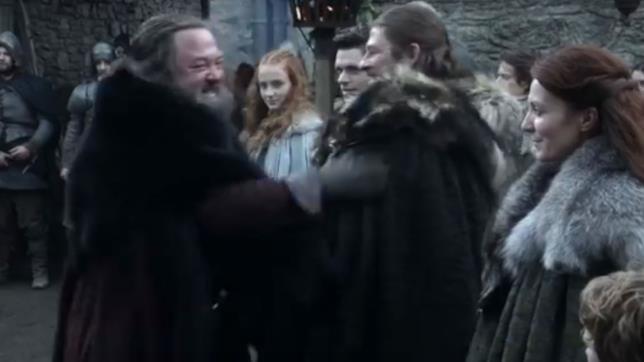 Il caloroso saluto tra Robert e Ned