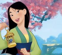 Una scena del cartone animato Disney Mulan