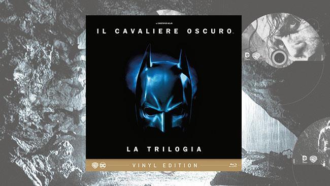 La cover della Vinyl Edition dedicata alla trilogia del Cavaliere Oscuro