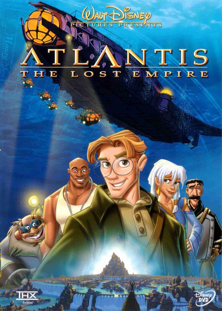 La copertina dell'edizione DVD di Atlantis - L'impero perduto
