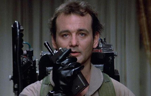 Bill Murray in una scena del primo Ghostbusters
