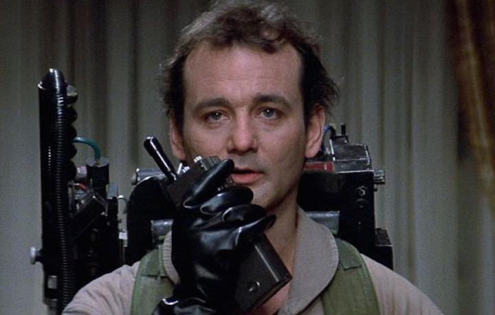 Bill Murray in una scena del primo Ghostbusters