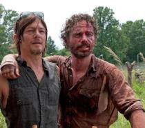 Norman Reedus e Andrew Lincoln in The Walking Dead