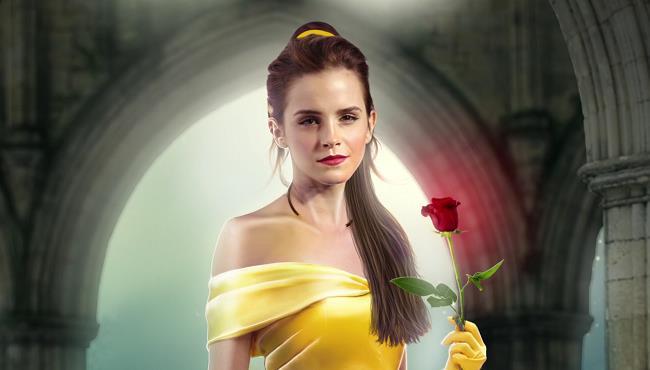Emma Watson nella locandina di La Bella e La Bestis