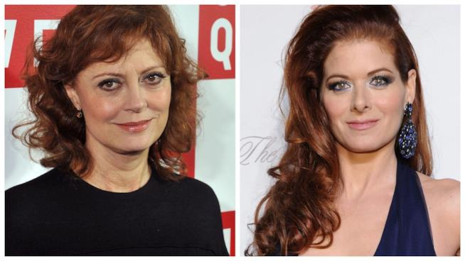 Primo piano di Susan Sarandon e Debra Messing
