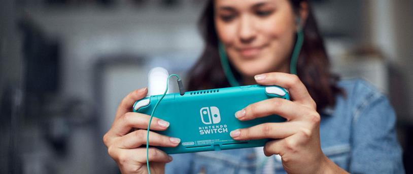 Un'immagine promozionale di Nintendo Switch Lite