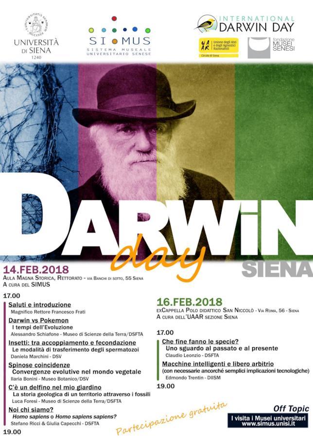 Il programma del Darwin Day a Siena