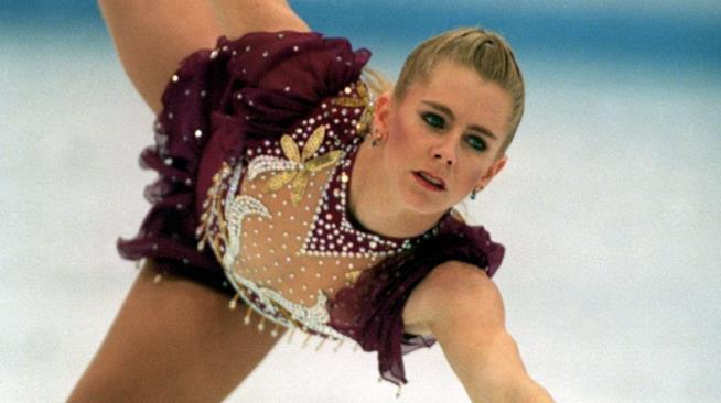 Un volteggio di Tonya Harding su ghiaccio