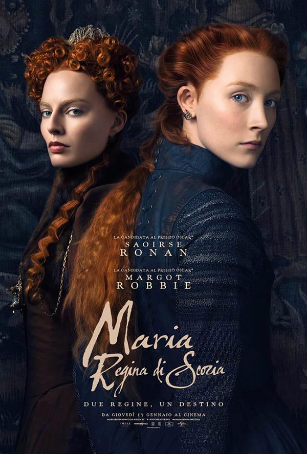 Margot Robbie e Saoirse Ronan nel poster italiano del film