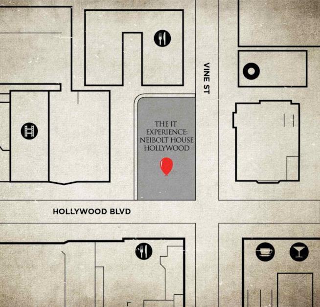 La mappa della casa di IT a Los Angeles
