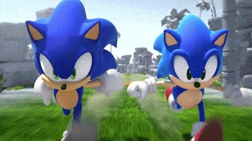 La velocissima corsa del porcospino blu Sonic