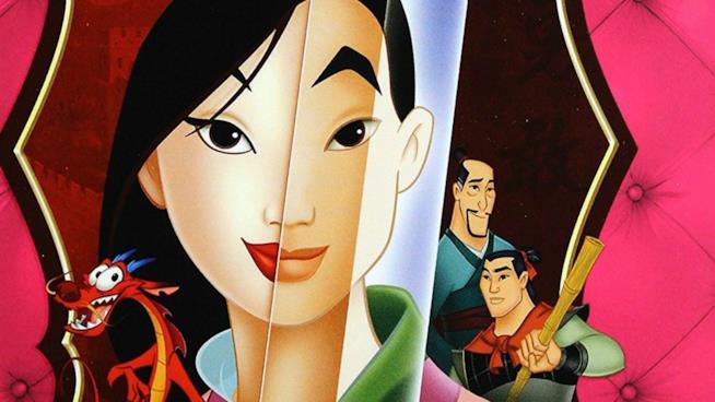 Mulan con gli altri personaggi della fiaba