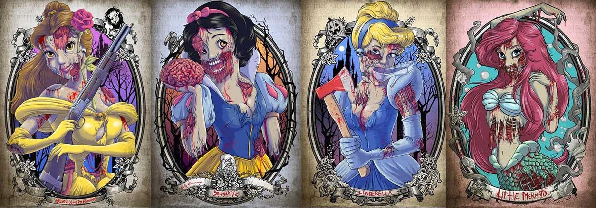 Le principesse in versione zombie
