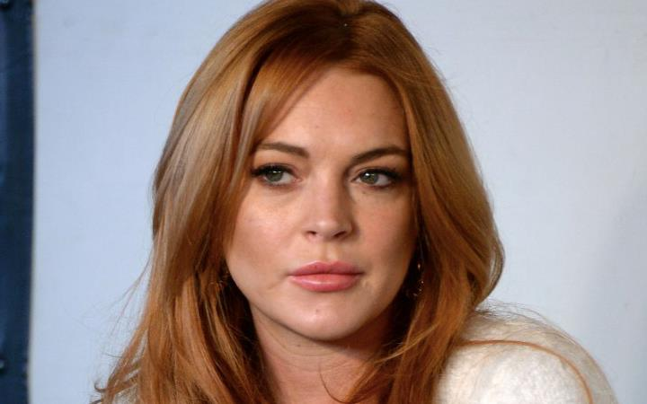 Linsday Lohan in primo piano