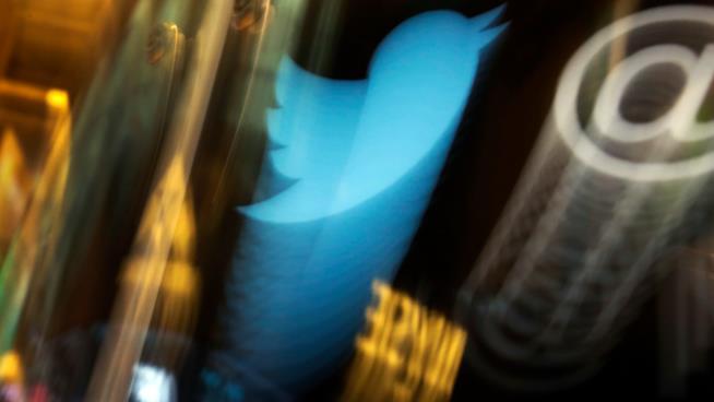 Logo molto sfocato di Twitter