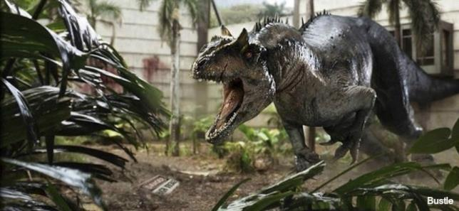 Dinosauri sul set di Jurassic World