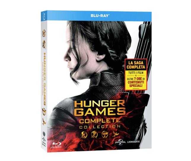 La copertina del Blu-ray di Hunger Games Collezione