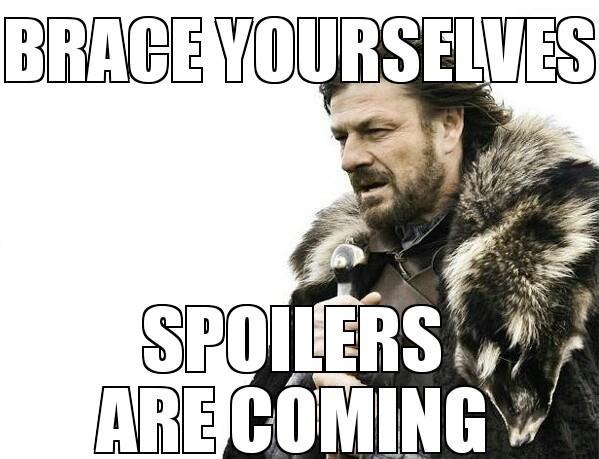 Un meme degli spoiler su Games of Thrones