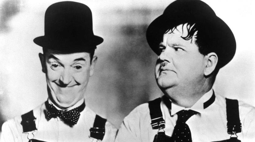 Mezzibusti di Stan Laurel e Oliver Hardy