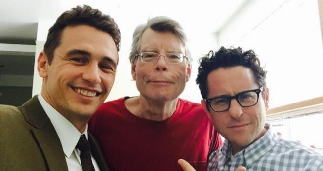 Stephen King insieme a James Franco e J.J. Abrams
