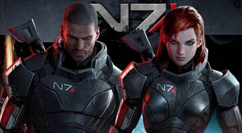 Il comandante Shepard in versione maschile e femminile