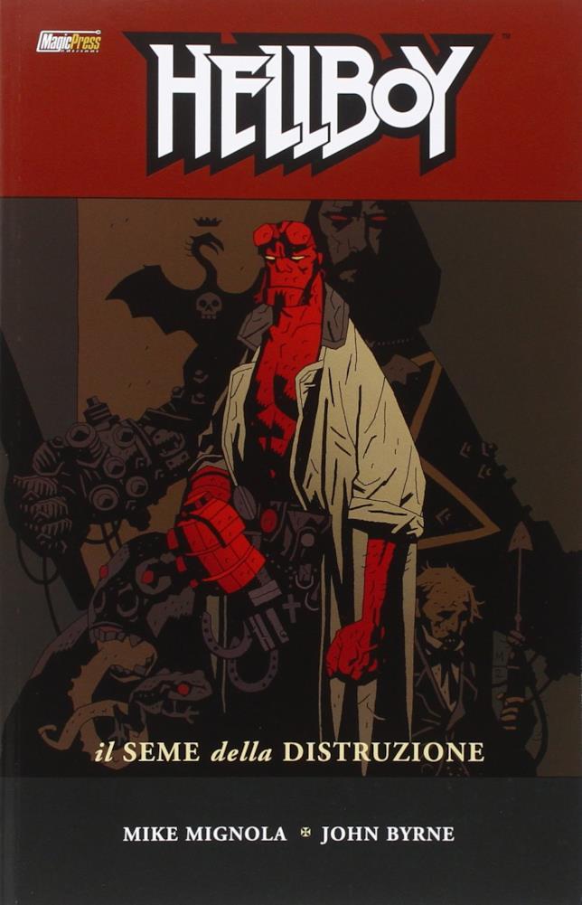 Hellboy nella cover de Il Seme della Distruzione
