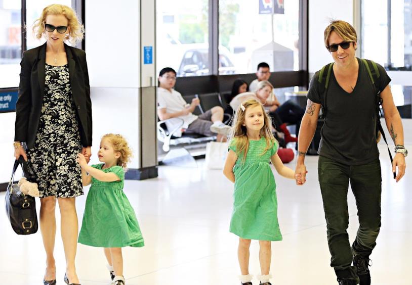 Nicole Kidman con Keith Urban e le loro figlie