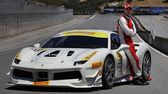 Michael Fassbender durante il North American Ferrari Challenge