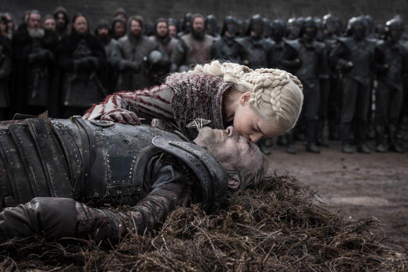 Iain Glen ed Emilia Clarke nella loro ultima scena insieme