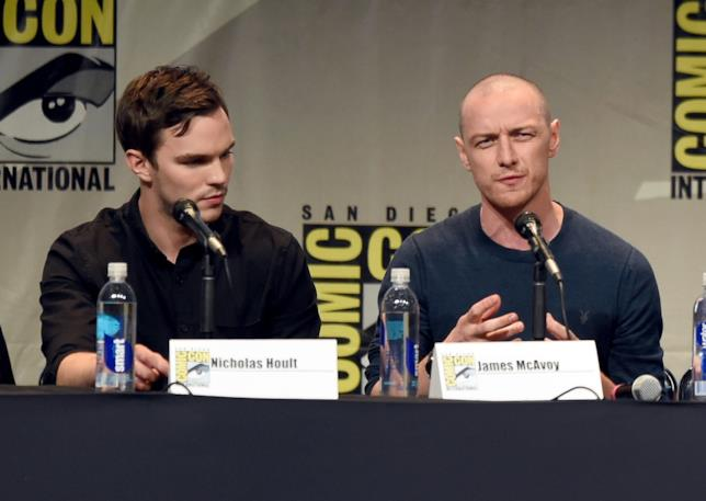 James McAvoy e Nicholas Hoult, rispettivamente Professor X e Bestia