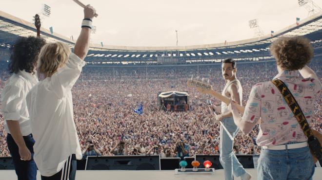 Una scena del film Bohemian Rhapsody