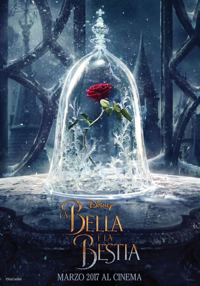 Il primo poster italiano del live-action Disney la Bella e la Bestia