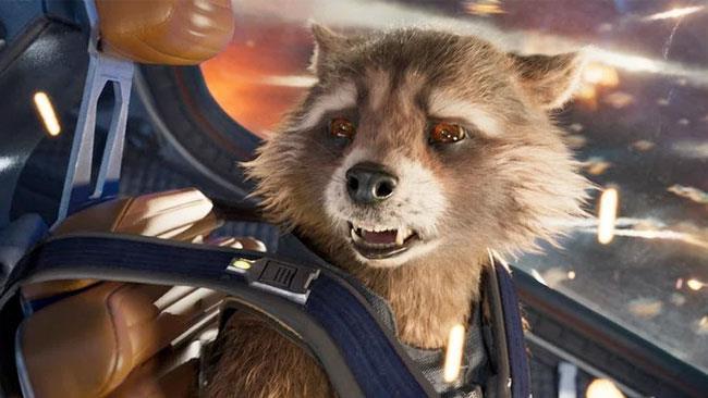 Primo piano di un affranto Rocket Raccoon