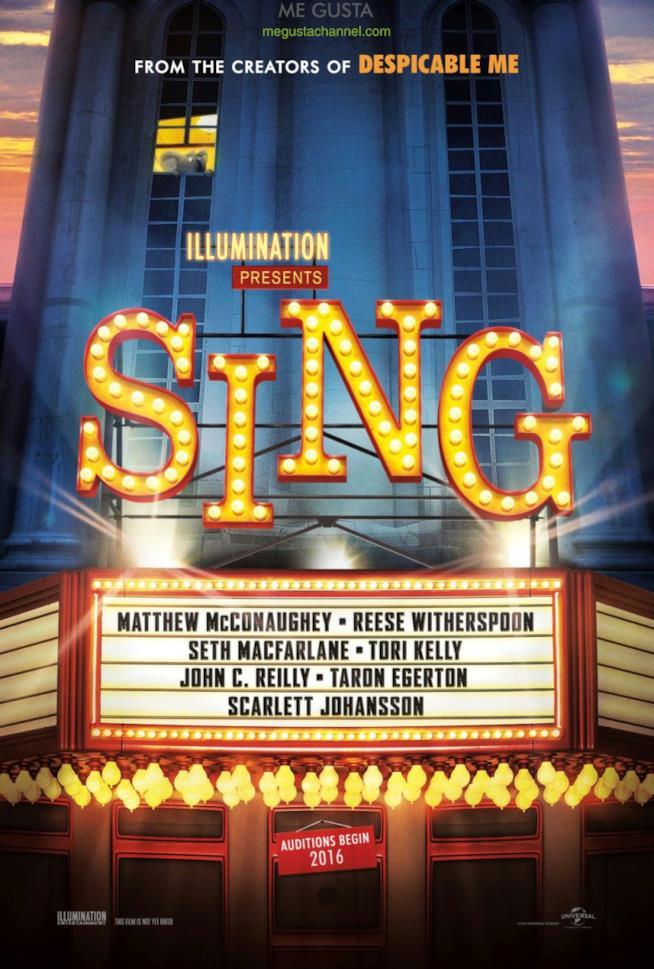 Locandina del film d'animazione Sing